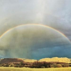 Double Rainbow over Shoshone Village